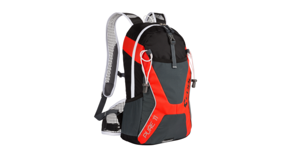 Cube Pure 11 Rucksack black'n'flashred